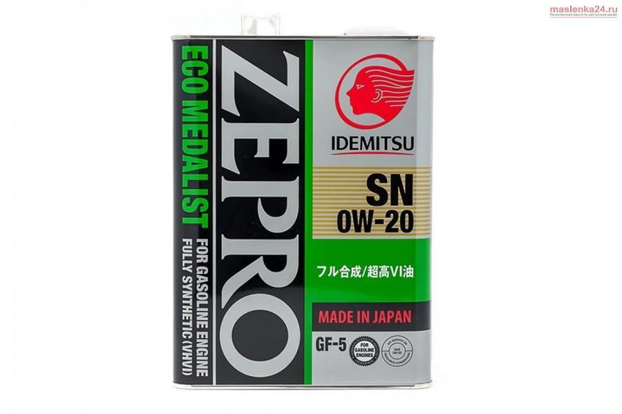 Idemitsu Zepro Eco Medalist 0W20 SN, ILSAC GF5 4л